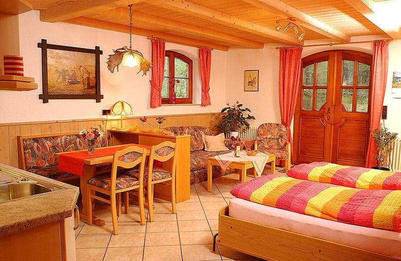 1-Zimmer-Ferienwohnung: Waldblick :: 38 m²
