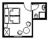 Doppelzimmer: DZ-Morgenfrische :: 17 m²