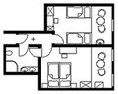 Familienzimmer: FZ-Habichtshorst_Kuckucksnest :: 38 m²