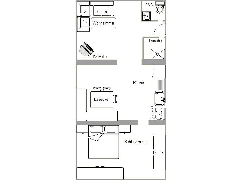 2-Zimmer-Ferienwohnung: Sonnenstrahl :: 40 m²