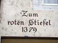 Gasthaus zum Stiefel anno 1379 in Freiburg im Breisgau