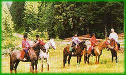 Reitergruppe in Bernau im Schwarzwald